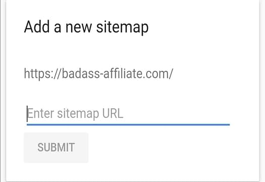 Adding sitemap to Google