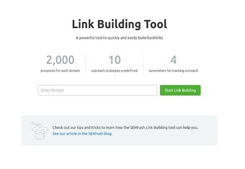 Link building tool semrush
