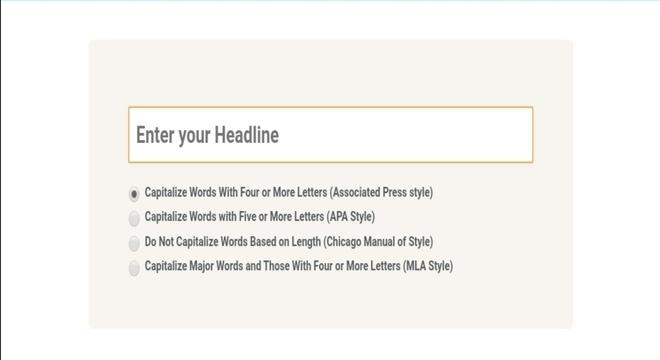 Headline Capitalization blogging tools