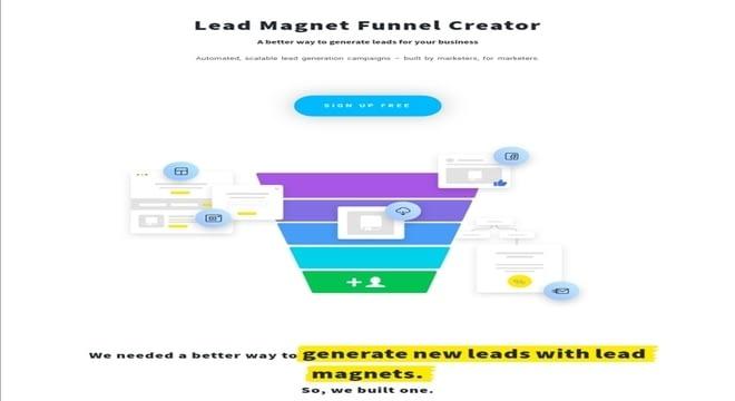 Lead magnets funnel creator