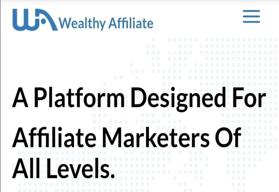 Affiliate marketing training wealthy affiliate